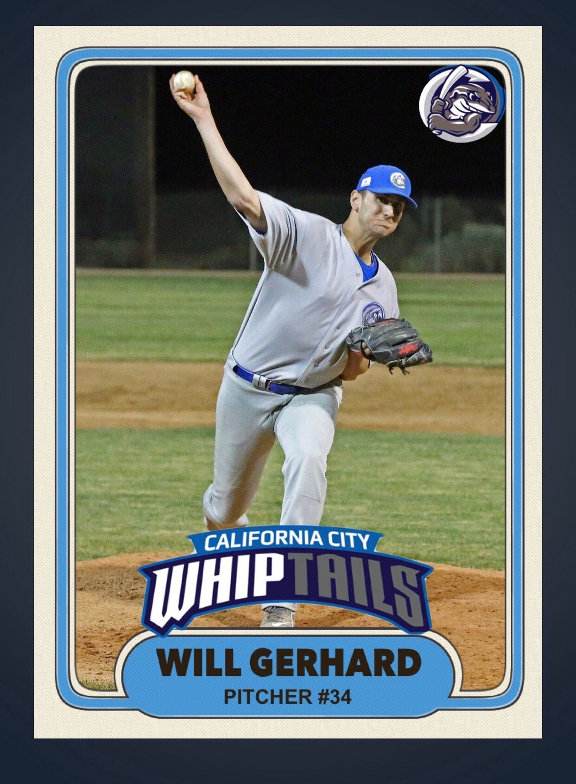 Will Gerhard baseball card.