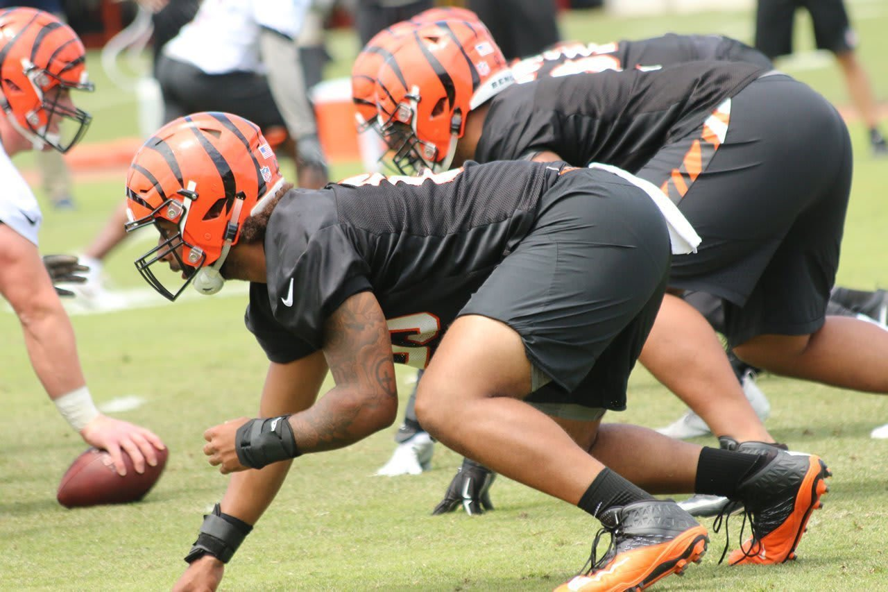 Gaelin Elmore at the Cincinnati Bengals OTA's.