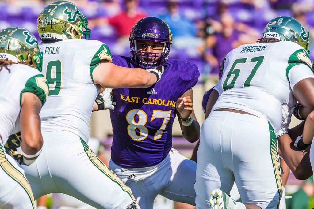 Gaelin Elmore playing for Eastern Carolina.