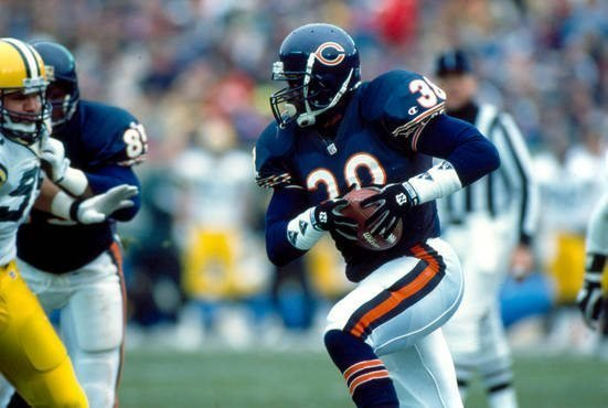 Tim Worley playing for the Chicago Bears.